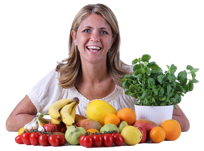 Louise med frugt