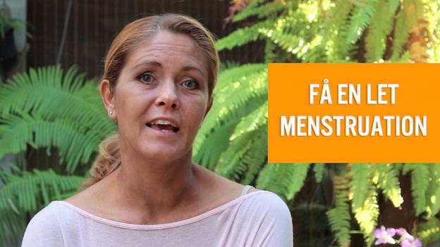 Få en let menstruation uden smerter og pms