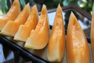 Meloner på fad