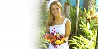 Louise Koch med frugtfad