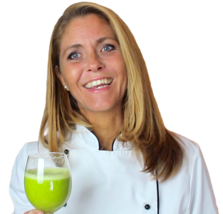 Louise Koch med grøn smoothie